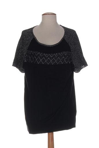 coleen bow chemises femme de couleur noir