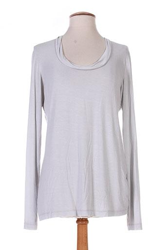 T-shirt manches longues gris EUROPEAN CULTURE pour femme