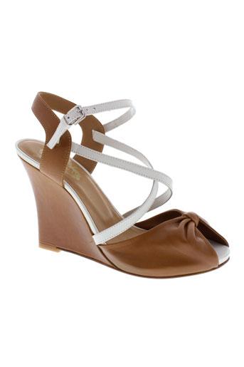 paul et joe sandales et nu et pieds femme de couleur marron