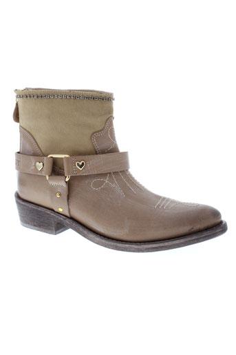 twin et set et simona et barbieri boots femme de couleur beige
