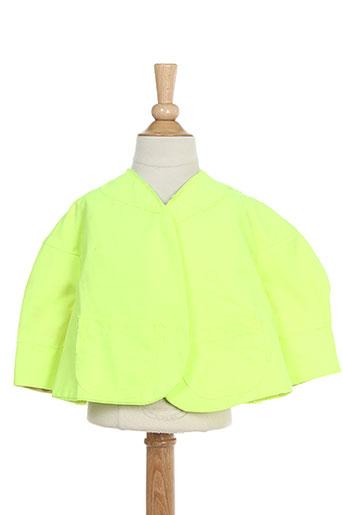 bodebo vestes fille de couleur jaune