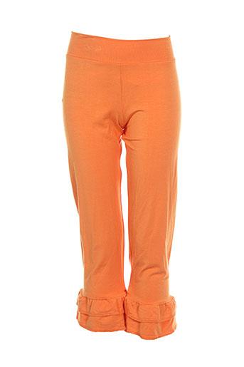 0+0=l'atelier des petits pantalons fille de couleur orange