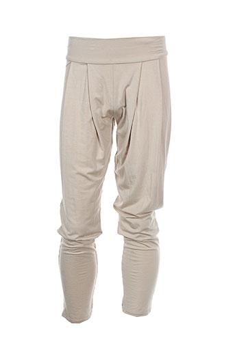 0+0=l'atelier des petits pantalons fille de couleur beige