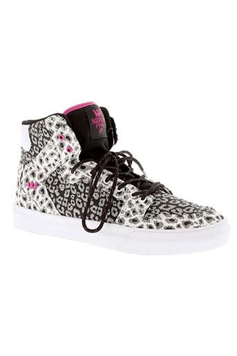 supra chaussures fille de couleur noir