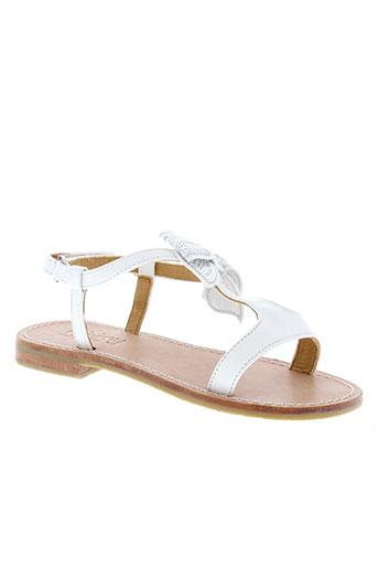 mellow yellow chaussures fille de couleur blanc