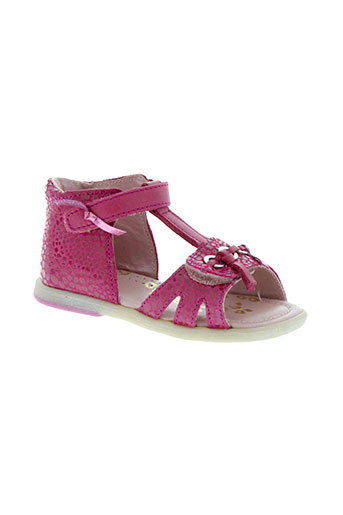 babybotte sandales et nu et pieds fille de couleur rose