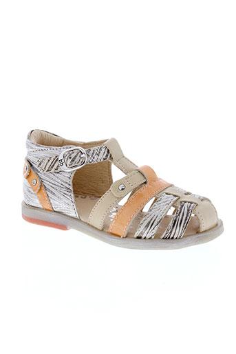 babybotte sandales et nu et pieds fille de couleur orange