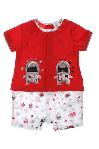 3 et pommes combi et shorts fille de couleur rouge (photo)