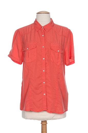 monte carlo chemises femme de couleur orange