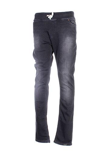 french terry 1818 pantalons homme de couleur noir
