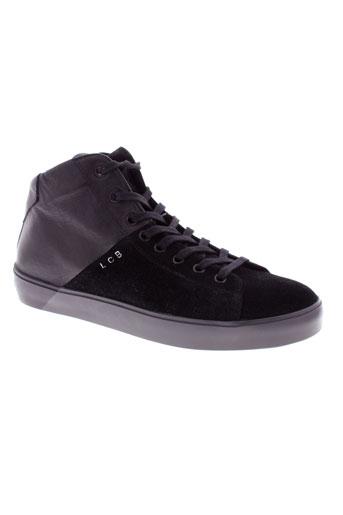 leather crown chaussures homme de couleur noir