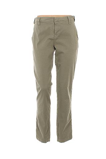 quiet pantalons femme de couleur vert