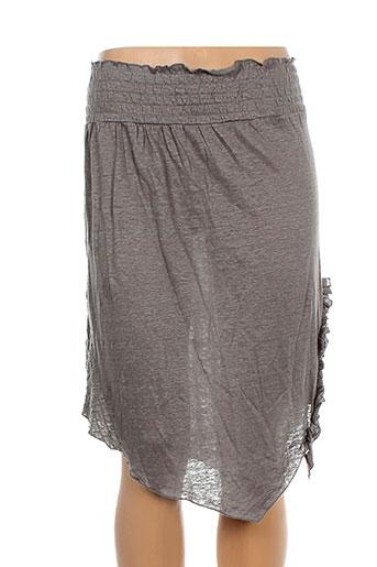 lino factory jupes femme de couleur marron