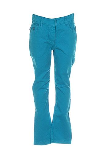 lili et gaufrette pantalons et decontractes fille de couleur bleu