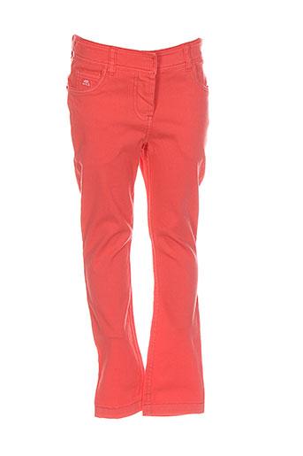 lili et gaufrette pantalons et decontractes fille de couleur orange