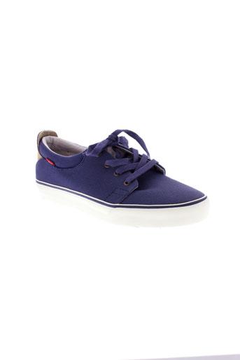 levis chaussures homme de couleur bleu