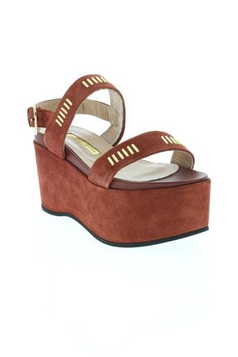 atos lombardini chaussures femme de couleur marron