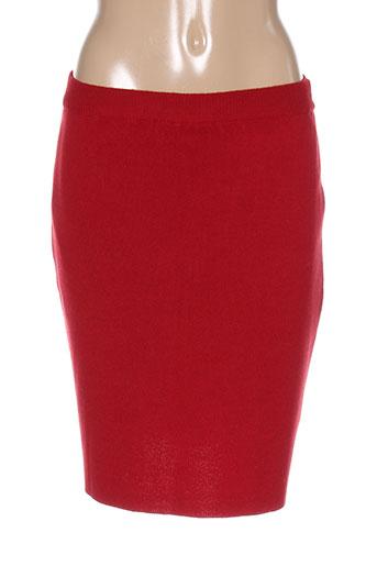luisa ferri jupes femme de couleur rouge