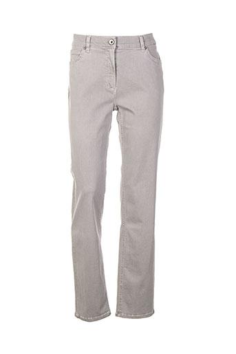 anna montana jeans femme de couleur gris