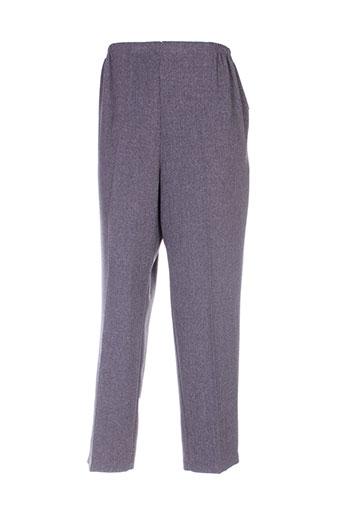 maille indigo pantalons femme de couleur gris