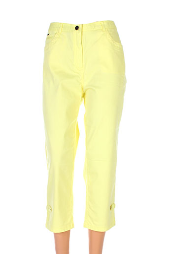 felino pantacourts femme de couleur jaune