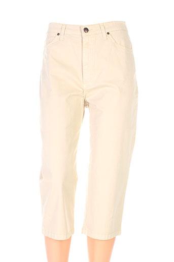 lcdn pantacourts femme de couleur beige