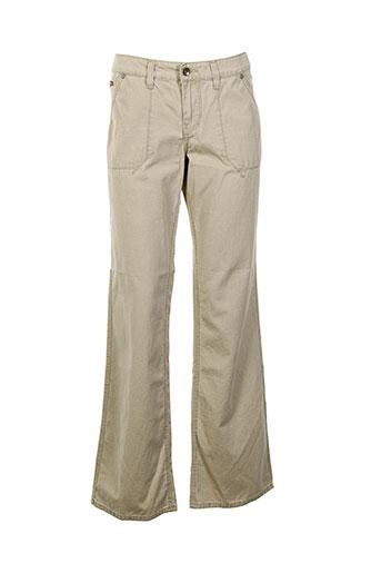 lee et cooper pantalons et decontractes femme de couleur beige