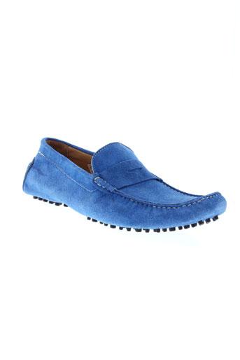 baxton mocassins homme de couleur bleu