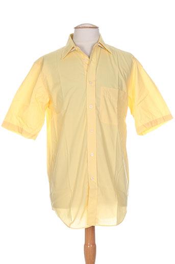 cambridge chemises homme de couleur jaune