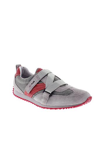 palladium chaussures garçon de couleur gris