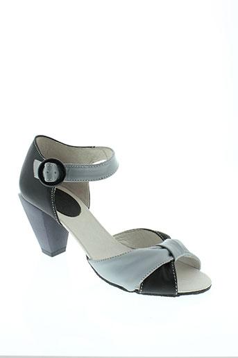 ikks sandales et nu et pieds femme de couleur noir