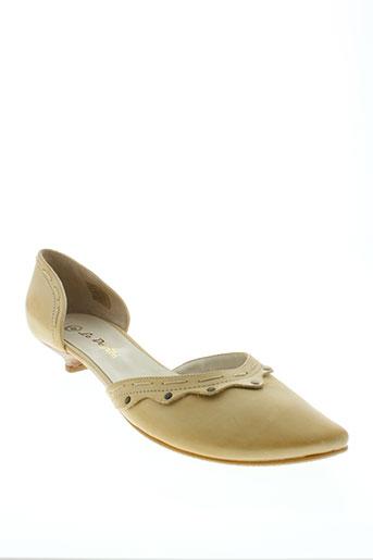 le defile chaussures femme de couleur beige