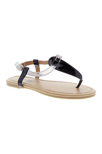 cassis cote d'azur chaussures fille de couleur noir