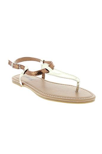cassis et cote et d et azur sandales et nu et pieds fille de couleur marron
