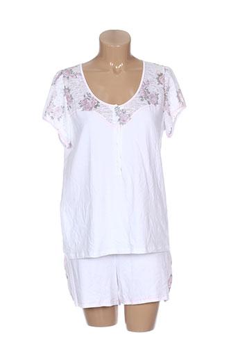 barandi pyjashorts femme de couleur blanc