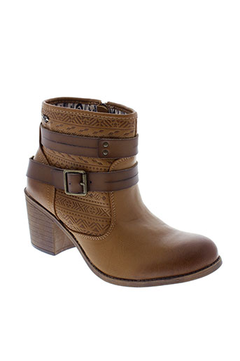 roxy et girl bottines femme de couleur marron