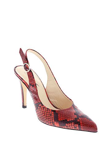 lillie et jane escarpins femme de couleur rouge
