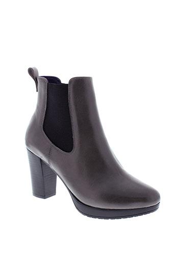 anaki boots femme de couleur gris