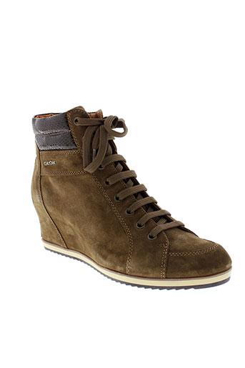 geox boots femme de couleur marron