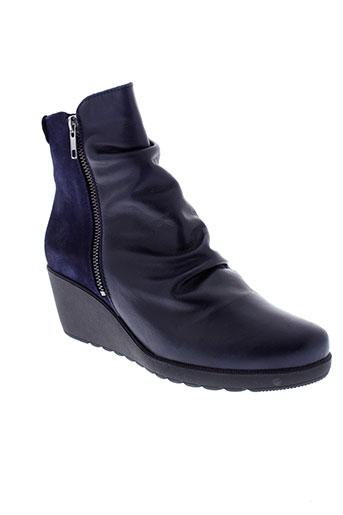 chacal boots femme de couleur bleu