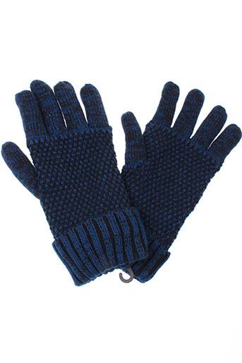 petrol et industries echarpes et gants homme de couleur bleu