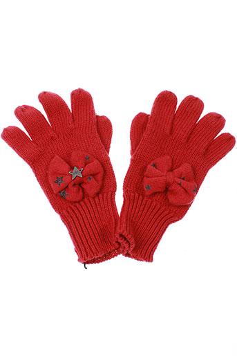 ikks echarpes et gants fille de couleur rouge