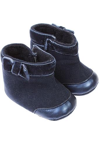 absorba chaussons fille de couleur bleu