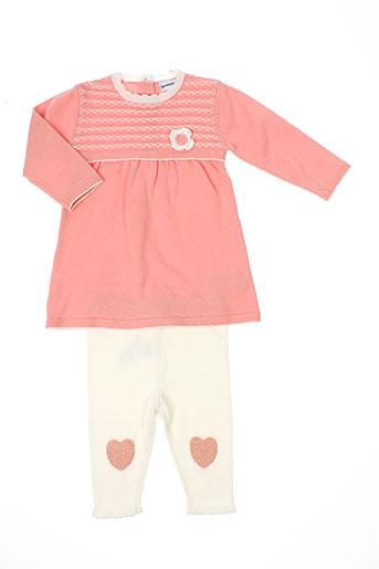 3 et pommes t et shirt et pantalon fille de couleur rose (photo)