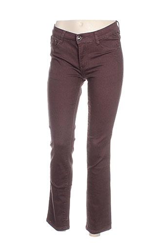 bb.s jeans jeans femme de couleur marron