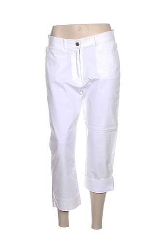 jost pantacourts femme de couleur blanc