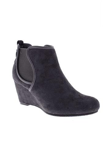 refresh boots femme de couleur gris