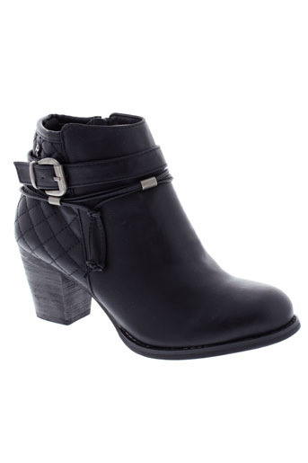 refresh boots femme de couleur noir