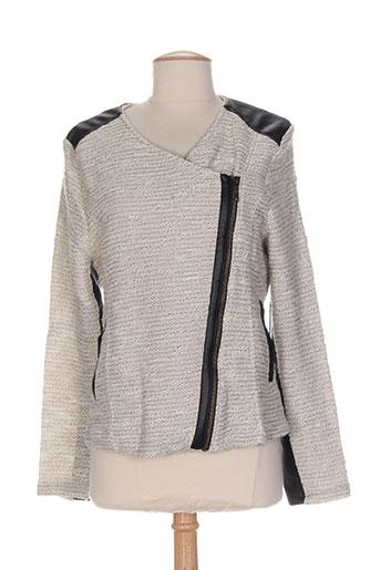 deeluxe vestes femme de couleur gris