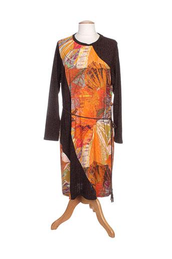 barandi robes femme de couleur orange